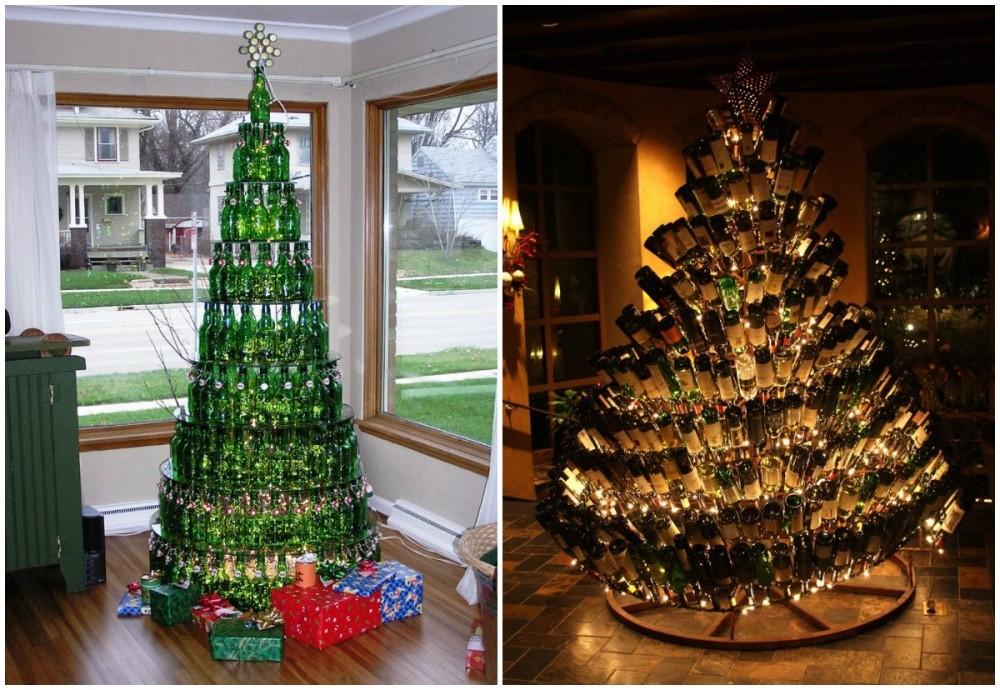 χριστουγεννιάτικο δέντρο μπουκάλια